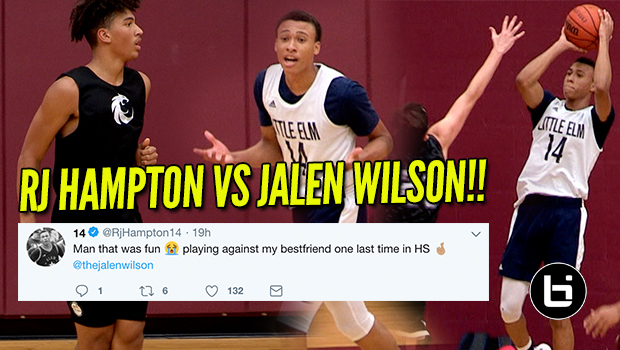Best Friends Battle On The Court! RJ Hampton Vs Jalen Wilson Full Highlights