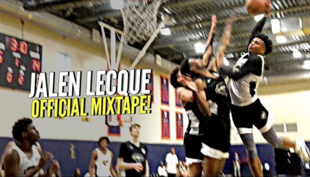"Jalen Lecque OFFICIAL MIXTAPE!! ""Baby Westbrook"" Has CRAZIEST BOUNCE IN HIGH SCHOOL!"