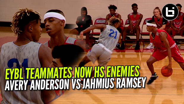 EYBL Teammates Now High School Enemies ! Avery Anderson VS Jahmius Ramsey