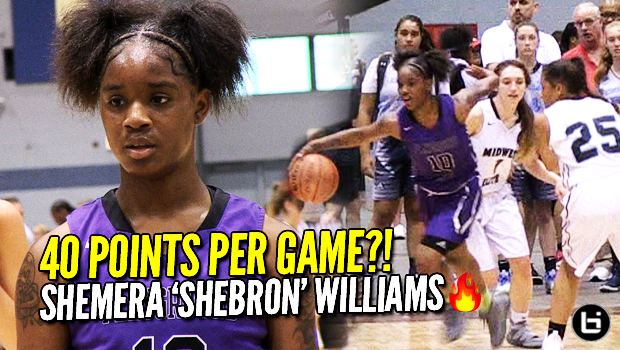 SheBron Scores 40 Points Per Game with CRAZY VISION! Tough PG Shemera Williams Highlights!