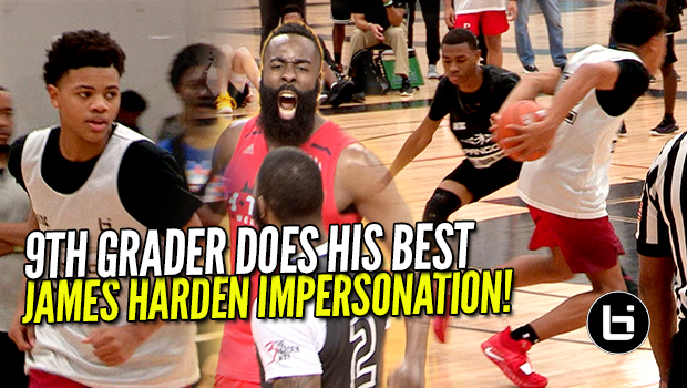 9th Grader Does His Best James Harden Impersonation! Keyonte George Destroying Pangos Camp!