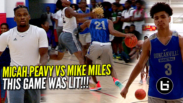 This Game Was Lit!!! Micah Peavy Vs Mike Miles!