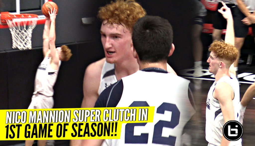Nico Mannion Super CLUTCH 1st Game of Season!!