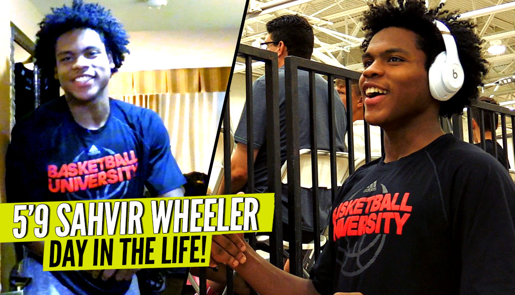 This 5'9 PG Gave Defenders NIGHTMARES! Sahvir Wheeler: Day In The Life On The AAU Circuit!!