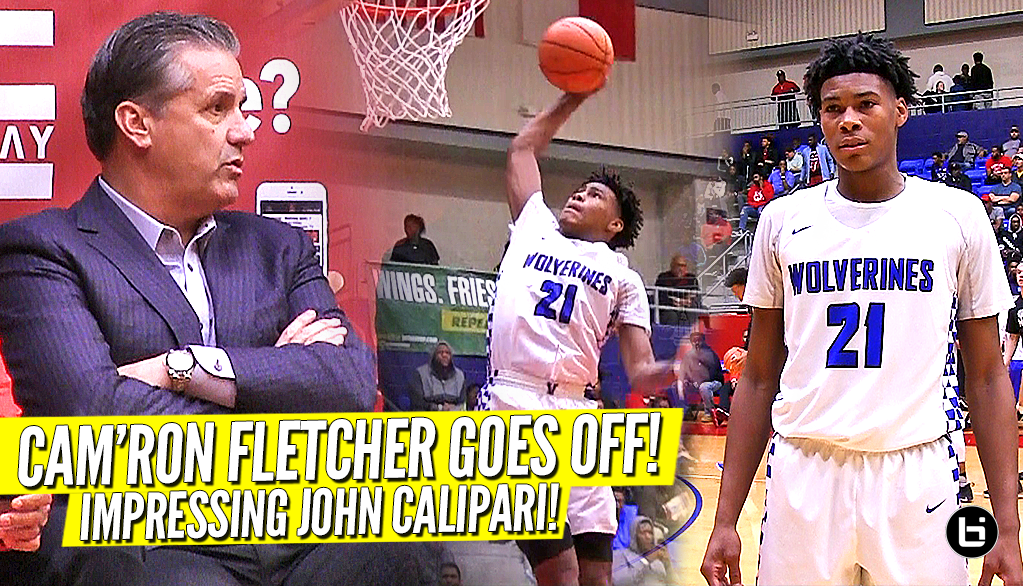 The Kid That Impressed John Calipari!! Cam'Ron Fletcher RESPONDS To Kentucky Commit!