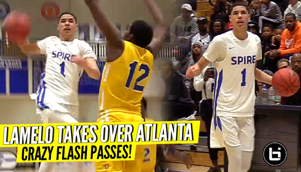 LaMelo Ball Goes CRAZY w/ The FLASHY PASSES! The Melo & Spire Show Takes Over Atlanta!