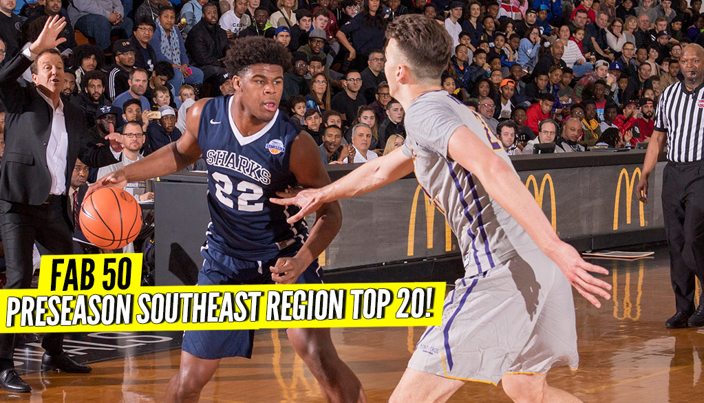 Preseason 2018-19 SOUTHEAST Region Top 20 Rankings!