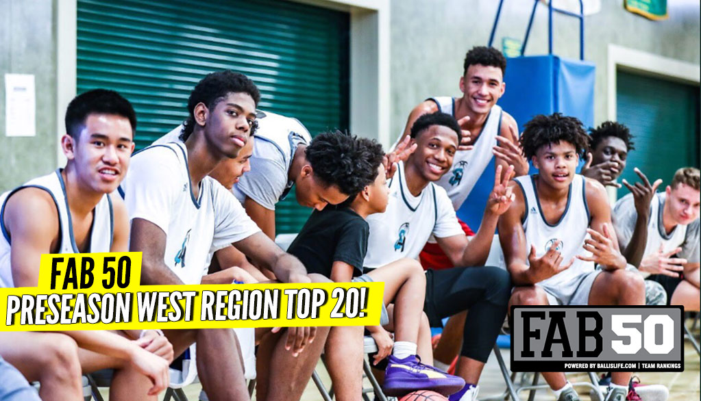 Preseason 2018-19 WEST Region Top 20 Rankings!