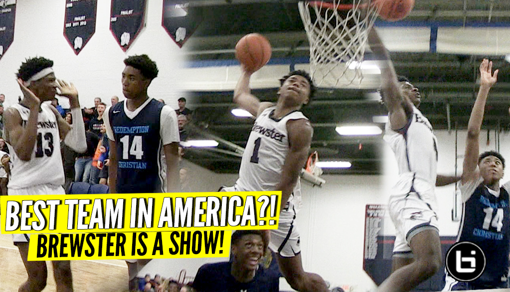 Is Brewster Academy the BEST TEAM in America?! Jamal Mashburn Jr. Poster! Jalen Lecque! Full Highlights