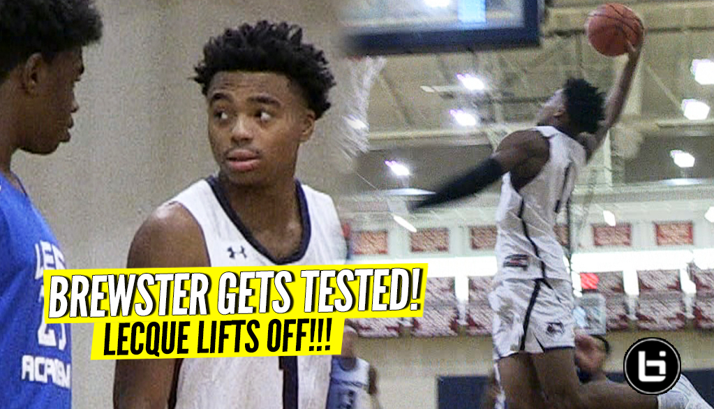 Jalen Lecque and Brewster Academy Face Toughest Test! Lecque Lifts Off on Home Court!
