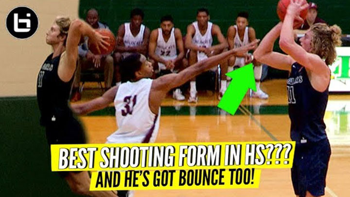 """BEST SHOOTING FORM IN HIGH SCHOOL?"" Caleb Lohner Can Shoot That Thing!"