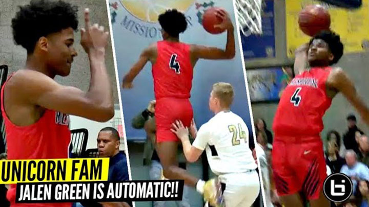 UnicornFam Jalen Green Makes It Look EASY!! Got That Thing On Automatic!