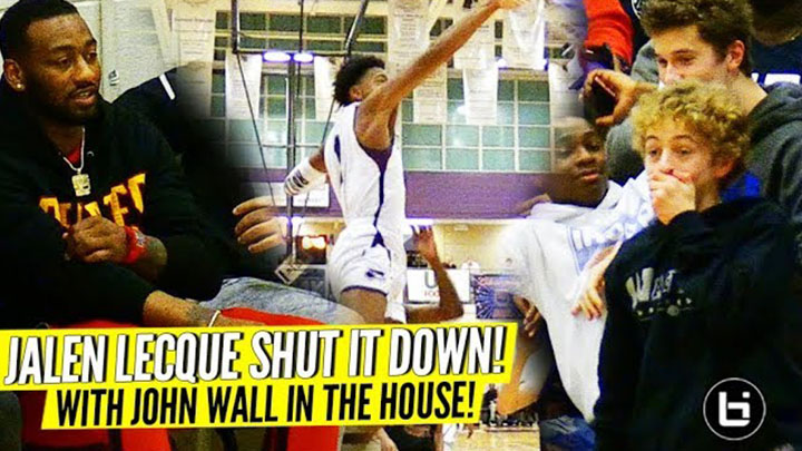 Jalen Lecque SHUTS THE JOHN WALL DOWN!!! POSTER DUNK IGNITES THE CROWD!!!