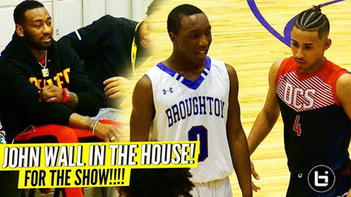 JOHN WALL SHOWED UP to WATCH JULIAN NEWMAN vs BROUGHTON!!!