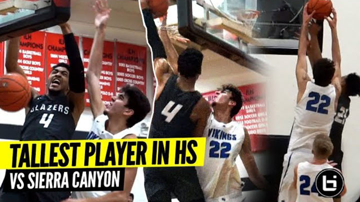 Tallest Player In High School Gets DUNKED ON 4 TIMES In 1 Game By KJ Martin!!
