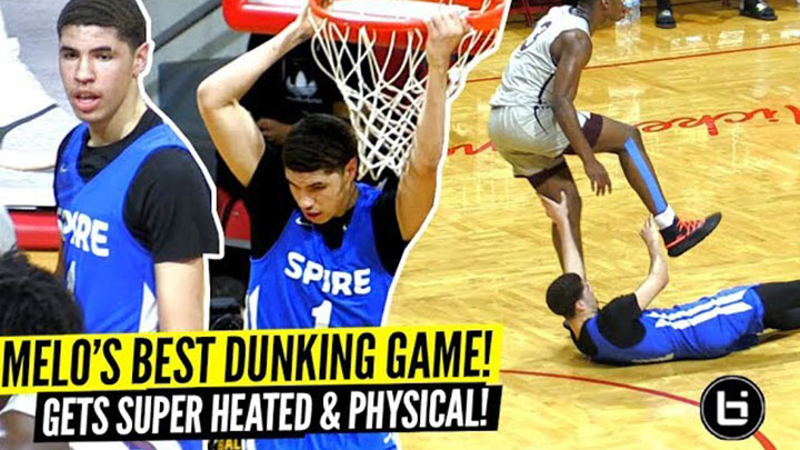 LaMelo Ball's BEST DUNKING Game Gets SUPER HEATED vs Ranked PG!! Trash Talkin' & Gets PHYSICAL!!