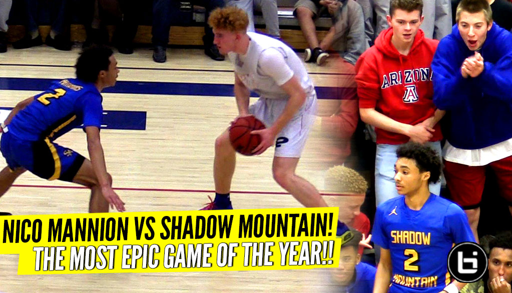 Nico Mannion vs Shadow Mountain Was INSANE!! EPIC Ending To The Rivalry Game!! Nico Vs J-House!!