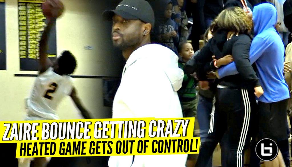 Zaire Wade MONSTER Dunk w/ Dwyane Wade Watching But Then All Hell Breaks Lose! Smh!!