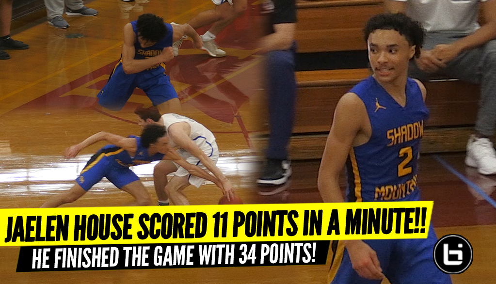 Jaelen House Scored 11 Points In A Minute!! He Finished With 34 Points In Route!!