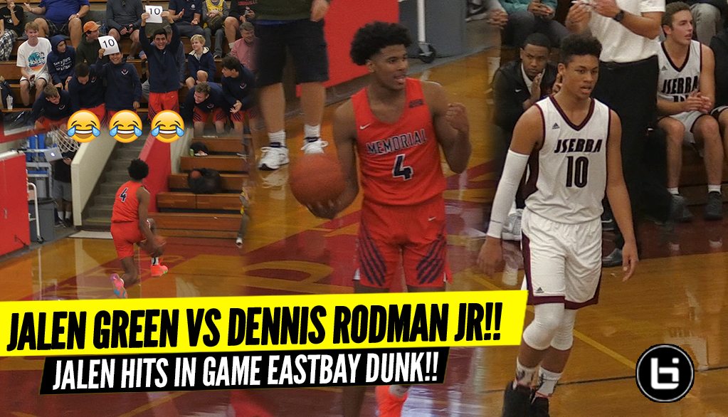 Jalen Green EASTBAY IN GAME vs Dennis Rodman Jr!! Rodman Leads 16 Point Comeback!!