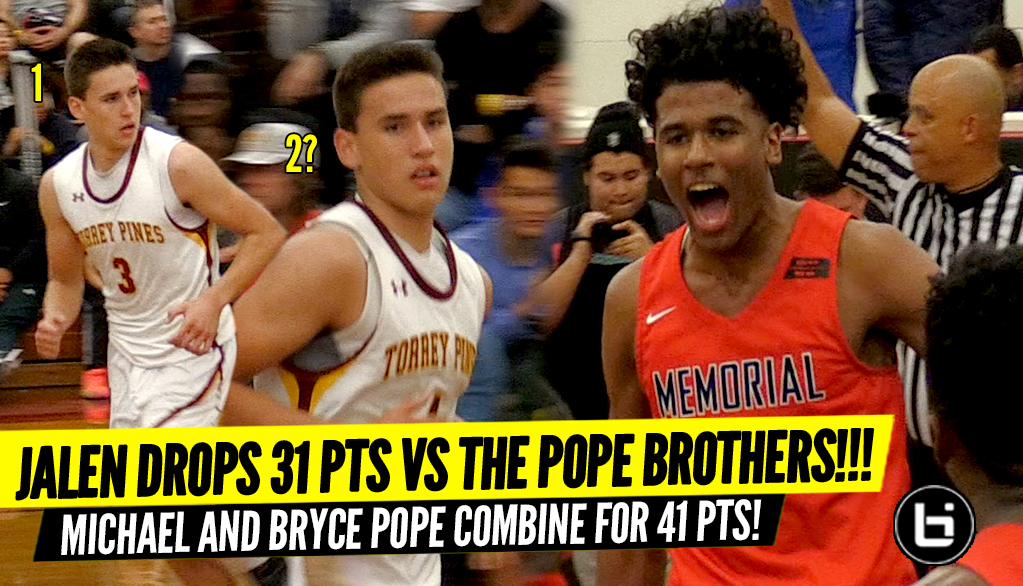 Jalen Green Put Up 31 Points While Holding Off The Pope Brothers 41 Points!!