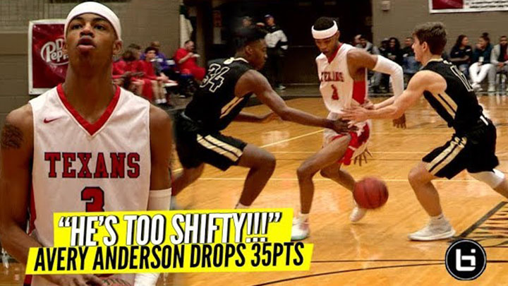 """HE'S TOO SHIFTY!"" Avery Anderson Snaps For 35Pts"
