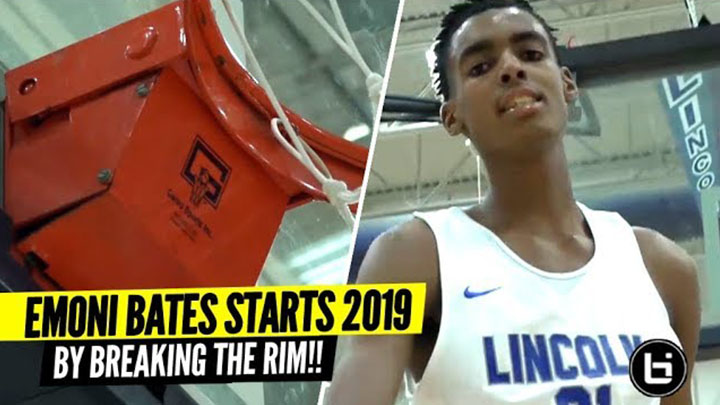 #1 9th Grader BREAKS THE RIM On Dunk!! Emoni Bates First Game of 2019!!!