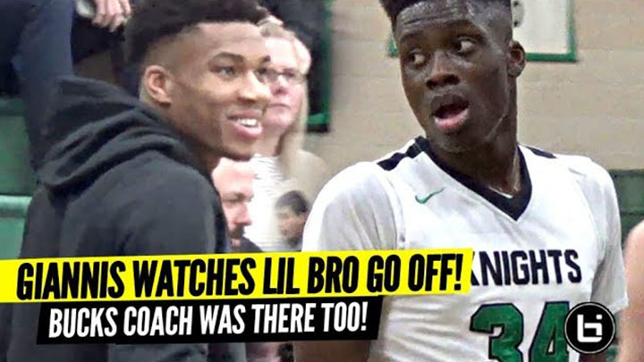 Giannis Watches Lil Bro Alex GO OFF w/ Bucks Head Coach!!! Is Alex NBA Bound!?