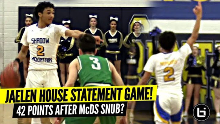 Jaelen House SNAPS For 42 Points After Being Snubbed By McDonald's All American Game!?!?