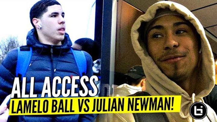 ALL ACCESS: LaMelo Ball vs Julian Newman Game Day The FULL...