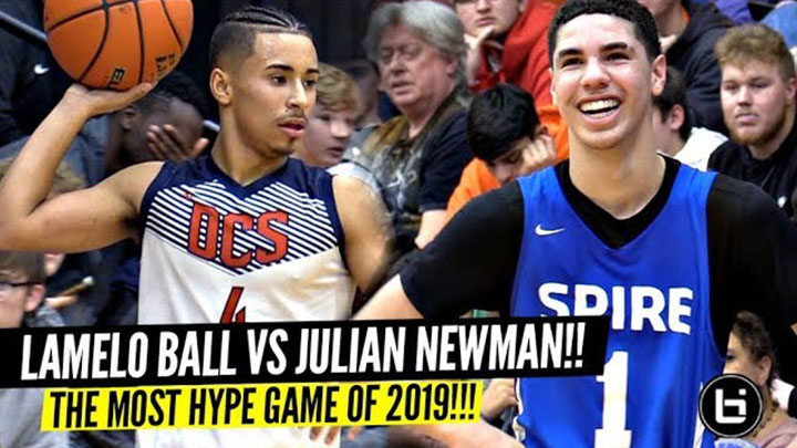 LaMelo Ball vs Julian Newman!!! The Most HYPED Game Of The...