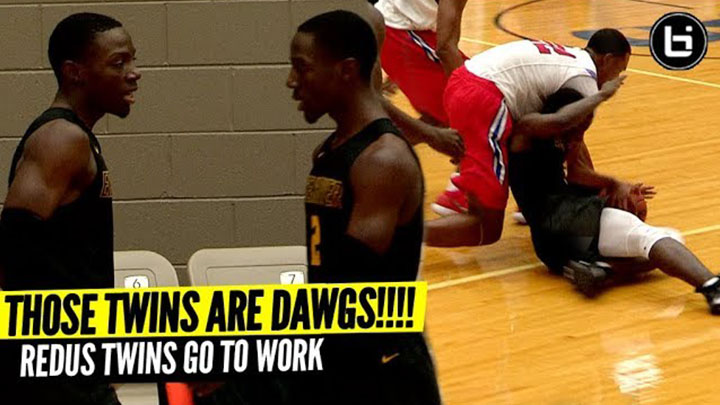 THOSE TWINS ARE DAWGS! Redus Twins Lead Team To Easy Win