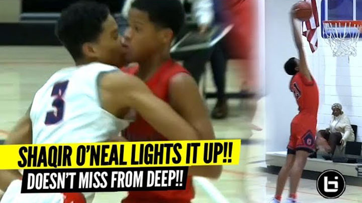 Shaqir O'Neal Catches FIRE after Opposing Crowd Talks Trash!!! Back On His Steph Curry Sh*t!!