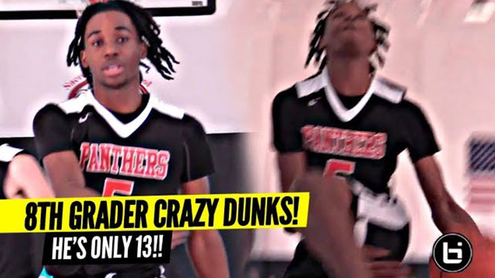 8th Grader Doing Between The Legs Dunk IN-GAME!? 13 Y/O Nathaniel Sasser Dunking CRAZY!