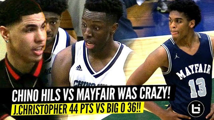 Chino Hills vs Mayfair EPIC STATE PLAYOFFS w/ LaMelo Ball Watching!! Josh Christopher 44 Points!!
