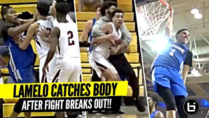 LaMelo Ball SNAPS After FIGHT Breaks Out!! BODIES Defender...