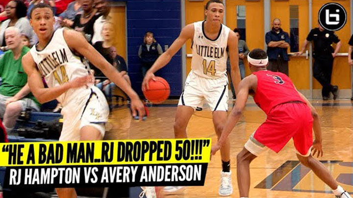 """HE A BAD MAN..RJ DROPPED 50PTS!"" RJ Hampton VS Avery Anderson Ballislife Highlights"