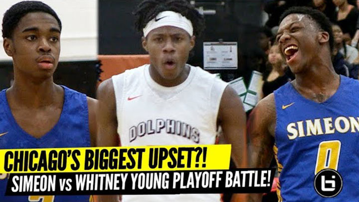 Chicago's Biggest Upset?! Simeon vs Whitney Young City Playoffs! Full Highlights!