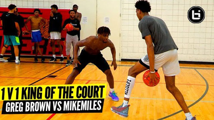 Greg Brown, Mike Miles & EYBL Texas Titans Go 1v1 King of the Court!
