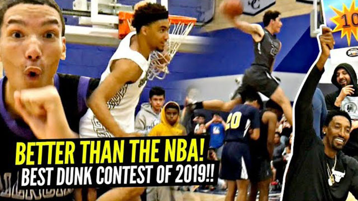 Sierra Canyon Dunk Contest Was the Craziest of 2019!! KJ Martin, Drake London, and Jaime Jaquez WENT OFF!