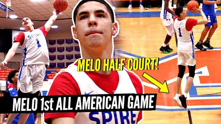 LaMelo Ball Drilled a Half-Court Shot in the Grind Session All-Star Game vs. Julian Newman!
