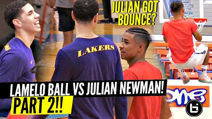 LaMelo Ball and Julian Newman Face Off in Grind Session All...