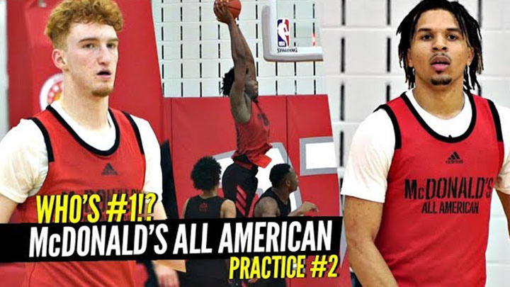 McDonald's All Americans Go 1 on 1 in Second Practice!