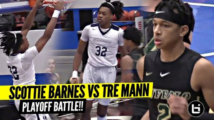 Tre Mann vs Scottie Barnes BATTLE IT OUT In Playoffs!!! Future NBA Pros FACE OFF!