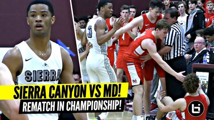 Sierra Canyon vs Mater Dei HUGE REMATCH For CHAMPIONSHIP! 5 Star Guards BATTLE! Cassius vs Devin!