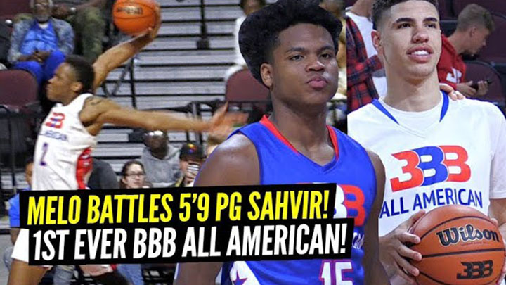 LaMelo Ball BATTLES 5'9″ PG Sahvir Wheeler in 1st Ever BBB All American Game!