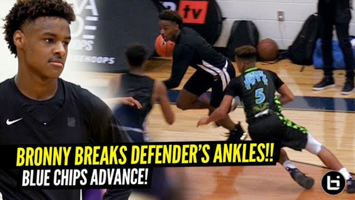 Bronny James SNAPPED This Defender's Ankles!!