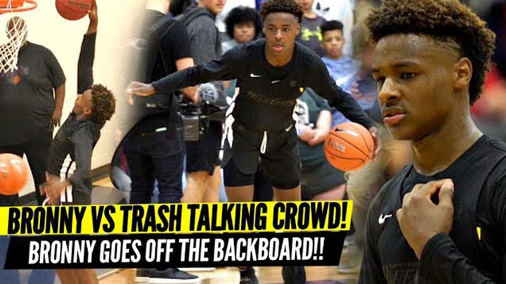 Bronny James QUIETS Trash Talking Crowd & Overrated...