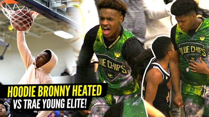 Hoodie Bronny Shows Off the 360 Dunk in Warmups! Game vs Trae Young's Team Gets Heated!