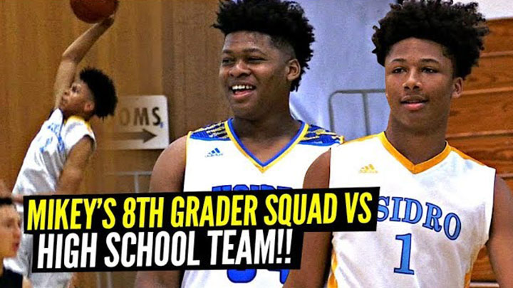 Mikey Williams, 7ft Jahzare Jackson & Their 8th Grade Team Beat High School Varsity Squad!